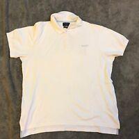 "Hackett London Men's XL White Cotton Polo Shirt. Designer 50"" Chest"