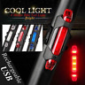 HOT 5 LED USB Rechargeable Cycling Bike Tail Warning Light Rear Safety Lamp LOT