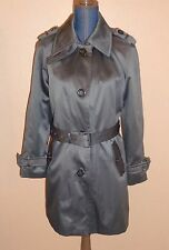 Jones New York Gray Belted Lined Trench Coat Petite Size M