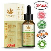 3 Flaschen 30ML Premium 30% starkes Hanfextraktöl 3000 mg Bio-Kräutertropfen aa