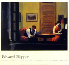 Room in New York Edward Hopper, Original Poster, Printed in 1980's for Museum