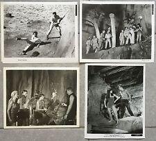 4 Photos Originales LE MONDE PERDU Lost world IRWIN ALLEN Michael Rennie 1960