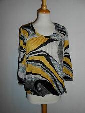 110 36 JOACHIM BOSSE Shirt  Blusenshirt Gr. 2 / 36 schwarz curry sand NEU