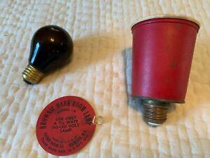 Vintage Kodak Brownie Dark Room Lamp with Working Bulb