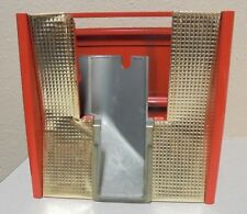Vintage Northwestern Gumball Vending Machine Red Gold Base Part Morris Illinois