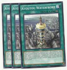YUGIOH 3X Kyoutou Waterfront - MP16-EN100 CORE-EN089 COMMON PLAYSET NEW!*