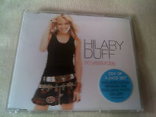 HILARY DUFF - SO YESTERDAY - 4 TRACK UK CD SINGLE