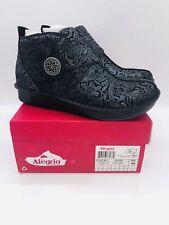 Alegria Women Caiti Cross Strap Ankle Boots Steel Swish Leather EUR 40 US 9.5-10