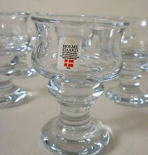 """70s 6x Holmegaard Portwein Glas Per Lütken """"Tivoli"""" glass set of six annees 70"""