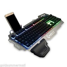 PK900 Gaming Keyboard RGB Backlight Mechanical 104 Keys Durable for Win7/10 Mac
