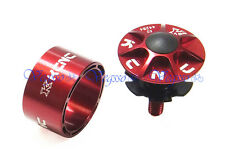 "NEW KCNC HEADSET TOP CAP SCREW STAR NUT KIT + SPACER 20MM HEIGHT 1-1/8"", RED"