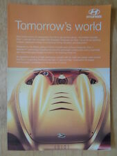 Hyundai euro 1 V6 concept car 1998 uk marketing publicité brochure