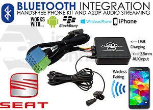 Seat Ahambra Streaming Música Bluetooth Adaptador Manos Libres CTASTBT003 Aux