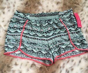 NWT Xhilaration Target Girls / Juniors 14-16 Printed Shorts Elastic Waist