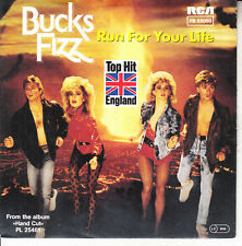 """BUCKS FIZZ Run For Your Life PICTURE SLEEVE 7"""" 45 rpm record NEW + jukebox strip"""