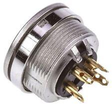Lumberg KFV Series, 4 Pole Din Socket Socket, DIN EN 60529, 5A, 250 V ac IP40, S