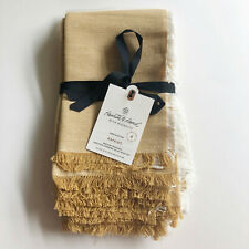 New Hearth & Hand Magnolia Linen Napkins Gold Set of 4