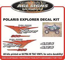 POLARIS XPLORER 300 4X4 Decal kit  1996 reproductions