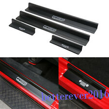 Door Sills Scuff Plate Entry Guards-Black for Jeep Wrangler JK 4 Door 2007-2018