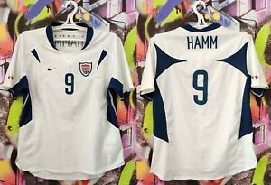 USA Soccer National Team Hamm #9 2002/03 Home Football Shirt Jersey Nike Women L