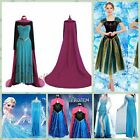 Women Adult Dresses Elsa Frozen Tulle Costume Princess Anna Party Cosplay Lot