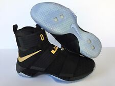 NIKEiD LEBRON SOLDIER X 'D ROCK' NEW BLACK/GOLD [ 885682-991 ] US MEN SZ 9.5