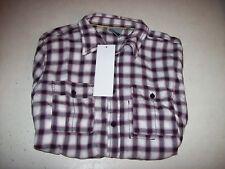J.C. RAGS Men's XL Purple Plaid Button Front Shirt NEW W/ TAGS NWT