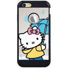 For Apple iPod Touch 5/6 5th/6th Gen. Hybrid Case Cover Hello Kitty Umbrella