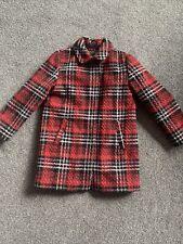 Age 6 Girls Wool Coat Tartan Next Worn Twice