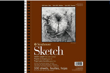 Strathmore 455-3 Series 400 Sketch Pad 9in x 12in. Side Wire Bound 100 Sheets