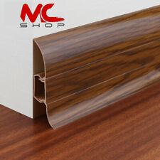 PVC PLASTIC 2.45m SKIRTING BOARD & ACCESSORIES 60mm Height Flexible edges