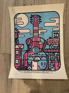 Ed Sheeran ACL Taping Poster- Sold Out at Show.
