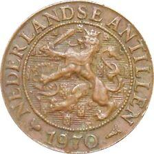 Nederlandse Antillen 1 Cent 1970 KM#1 Juliana (3872) key date