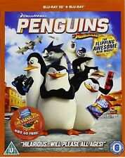 Penguins of Madagascar (2014) 3D + 2D Blu-Ray BRAND NEW Free Ship