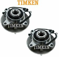 For Ford F-150 Lincoln Mark LT Pair Set of Front Wheel Bearings Hubs Timken
