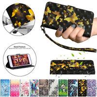 For Samsung J2 J3 J4 J5 J6 J7 3D Painted Leather Flip Card Wallet TPU Case Cover