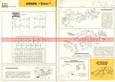 HONDA Civic - 1985 : Fiche Technique Auto Carrosserie / Peinture