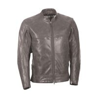 Motorcycle Biker Jacket Highway 21 4891015M Gunner gray leather YKK MD men's  HB