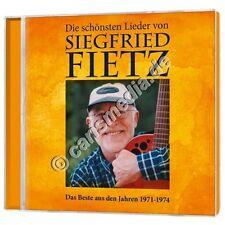 CD: DIE SCHÖNSTEN LIEDER VON SIEGFRIED FIETZ - Das Beste von 1971 bis 1974 *NEU*
