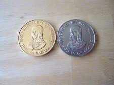 Lot of (2) Encuentro de dos mundos - Isabel la Catolica 500th Anniversary Medals