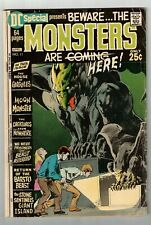 DC SPECIAL #11 (VG/FN) All Monster Horror Issue! Bronze-Age 68 Pages! 1971