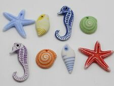 100 Mixed Color Acrylic Assorted Sea Oceans Design Plastic Pendants Kids Craft