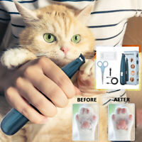 Professional Pet Dog Electric Hair Trimmer Mini Paw Pads Clippers Shaver Clipper