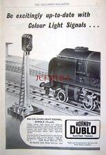 1959 Hornby-Dublo Electric Trains Advert ES6 Colour Light Signal #1 - Print AD