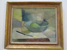 MID CENTURY CUBIST CUBISM  PAINTING ABSTRACT EXPRESSIONISM SIGNED MODERNISM