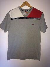 Tommy Hilfiger Jeans Men's T-shirt Logo Grey Size Meduim 100% Cotton