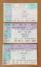 1995-97 WEEZER ALL SEATTLE DV8 CONCERT TICKET STUB LOT OF (3) BLUE ALBUM CUOMO