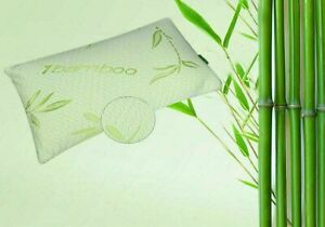 2 X Bamboo Pillow in Hollow Fibre Filling Anti Bacterial Head Neck Back Support