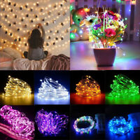 New 5-10M Battery Operated LED String Copper Silver Wire Fairy Lights Xmas Party