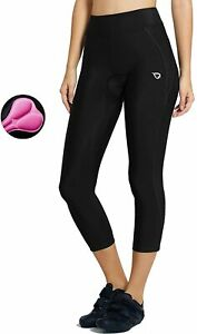 BALEAF Women's 3D Padded Cycling Pants Bike Capris Breathable 3/4 Tights - 3XL